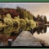 Glasbild Autumn Path