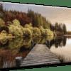 Glasbild Autumn Path Ansicht schräg