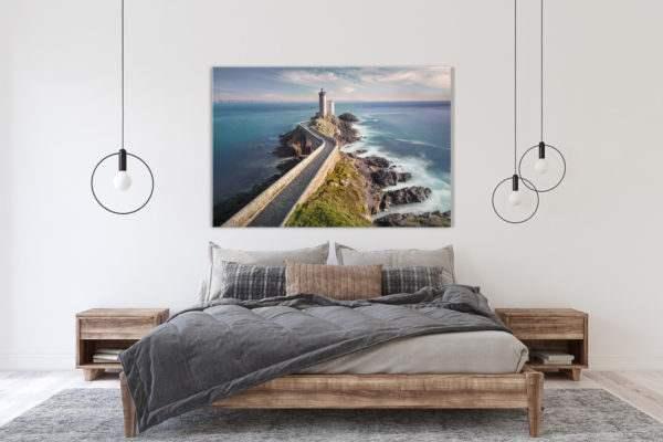Glasbild Lighthouse im Schlafzimmer