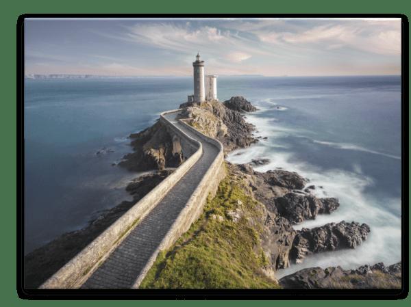 Glasbild Lighthouse