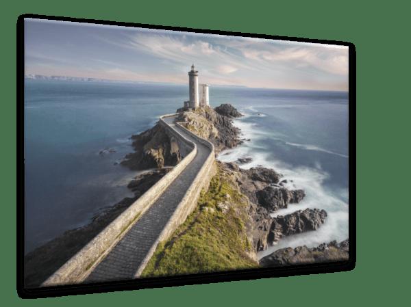 Glasbild Lighthouse Ansicht schräg