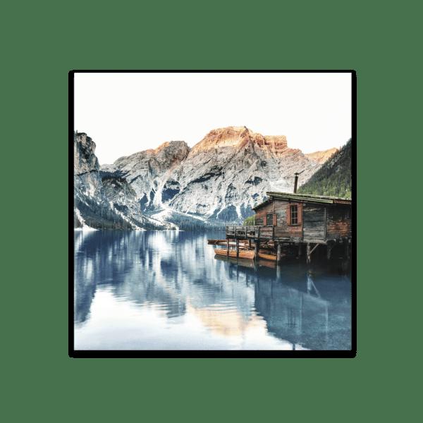 Glasbild Tyrol Hut