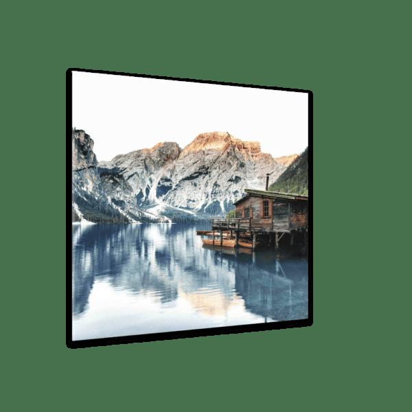 Glasbild Tyrol Hut Ansicht schräg