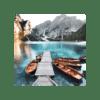 Glasbild Tyrol Boat