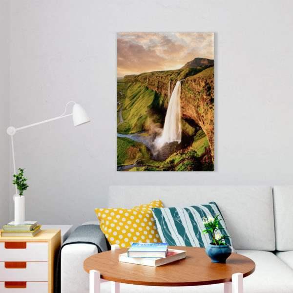 Glasbild Waterfall im Wohnzimmer