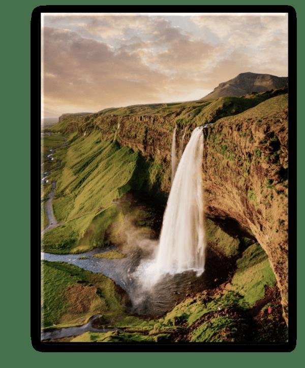 Glasbild Waterfall