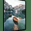 Glasbild See in Tirol Ansicht schräg