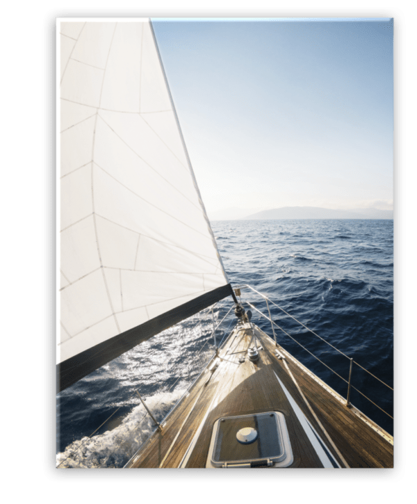 Glasbild Yacht