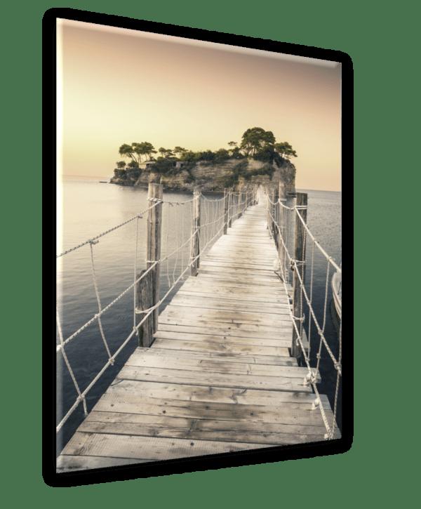 Glasbild Greece Ansicht schräg