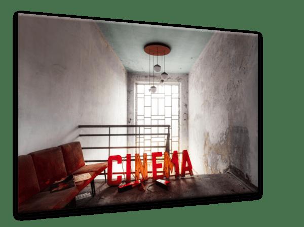 Glasbild Cinema Ansicht schräg