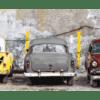 Glasbild Colorful Cars