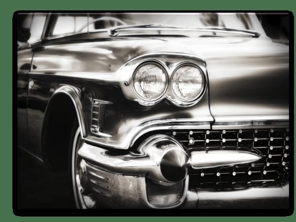 Glasbild Car – Metallic Shining Effect