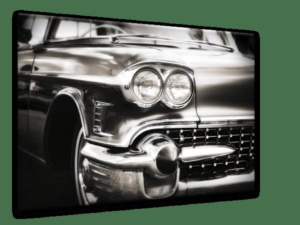 Glasbild Car – Metallic Shining Effect Ansicht schräg