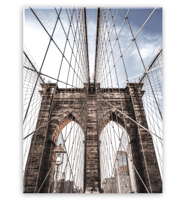 Glasbild Brooklyn Bridge