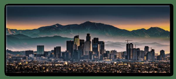 Glasbild Los Angeles – Metallic Shining Effect