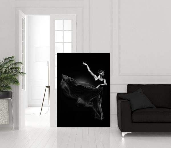 Glasbild Ballerina