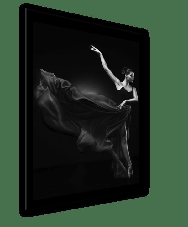 Glasbild Ballerina Ansicht schräg