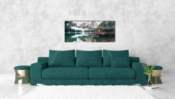 Glasbild Tirol – Panorama im Wohnzimmer