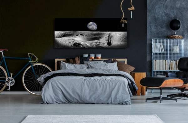 Glasbild Earth im Schlafzimmer