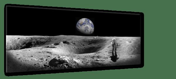 Glasbild Earth Ansicht schräg