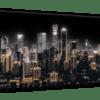 Glasbild Shining City – Metallic Shining Effect Ansicht schräg