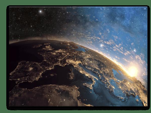 Glasbild Stars – Metallic Shining Effect