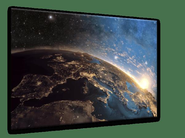 Glasbild Stars – Metallic Shining Effect Ansicht schräg