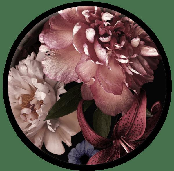 Glasbild Rosalia – rund