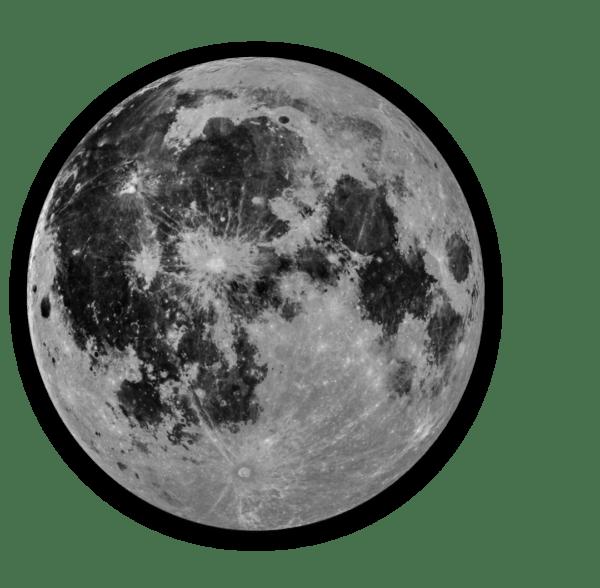 Glasbild Moon – rund