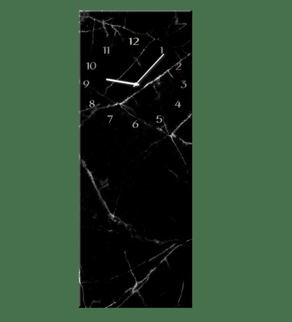 Glasuhr Black Marble