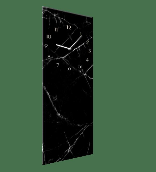 Glasuhr Black Marble Ansicht schräg