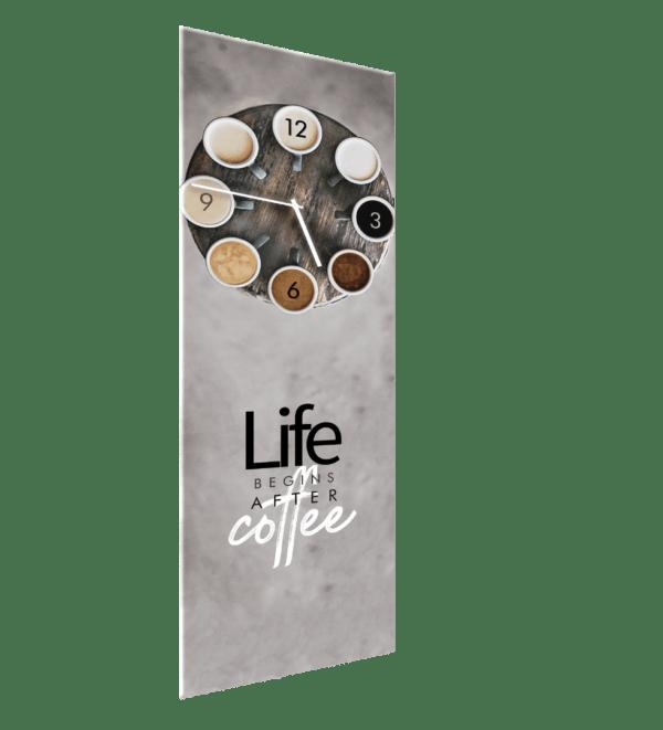 Glasuhr Coffee Ansicht schräg