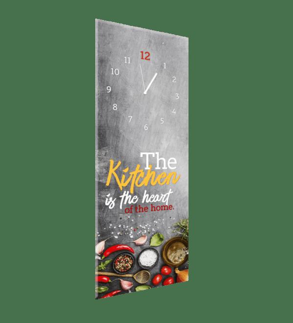 Glasuhr Kitchen Heart Ansicht schräg