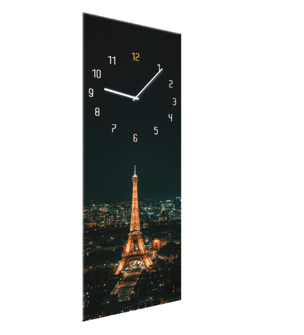 Glasuhr Paris Ansicht schräg
