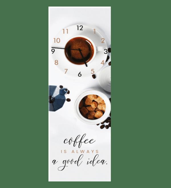 Glasuhr White Coffee