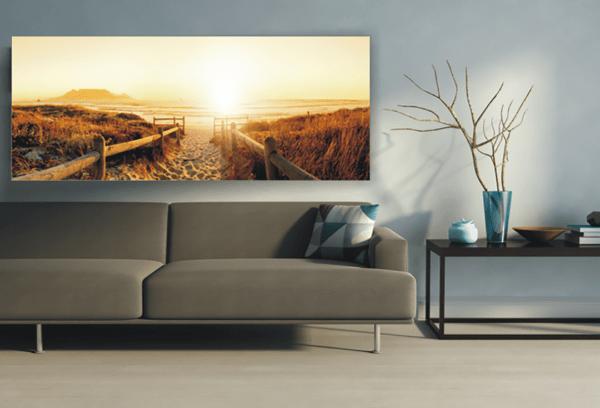 Wandbild Weg zum Strand | Leinwand | 45 x 140 cm im Wohnzimmer