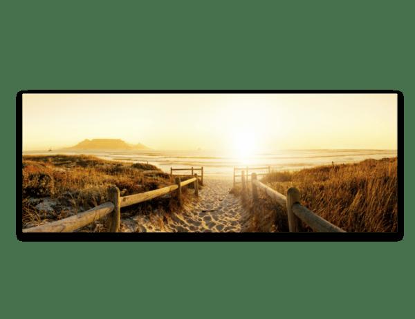Wandbild Weg zum Strand | Leinwand | 45 x 140 cm