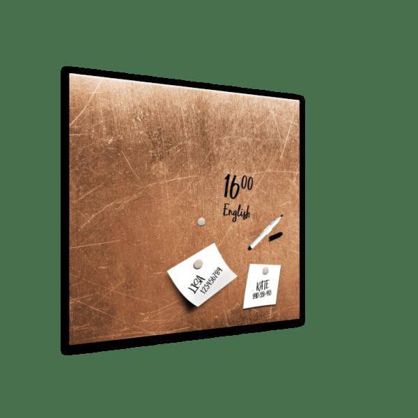 Memoboard Grey Copper Ansicht schräg