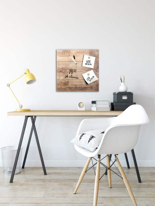 Memoboard Wood im Arbeitszimmer