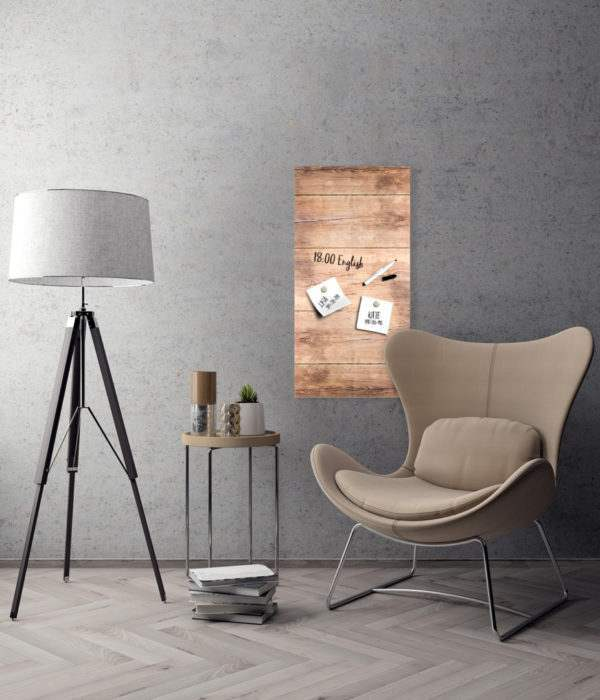 Memoboard Wood im Wohnzimmer