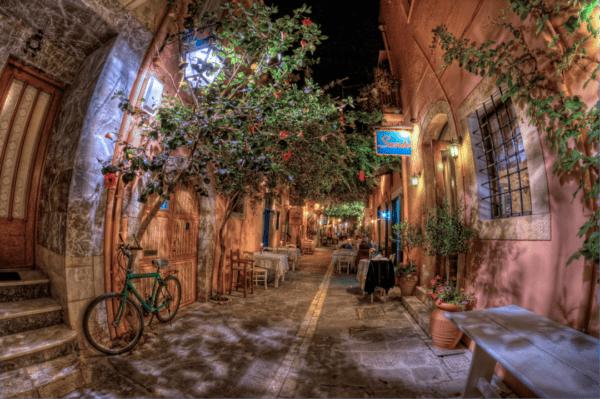 Leinwandbild Mediterrane Gasse