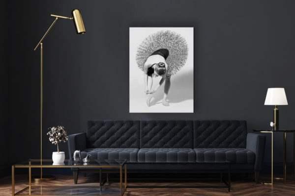 Leinwandbild Ballerina im Wohnzimmer