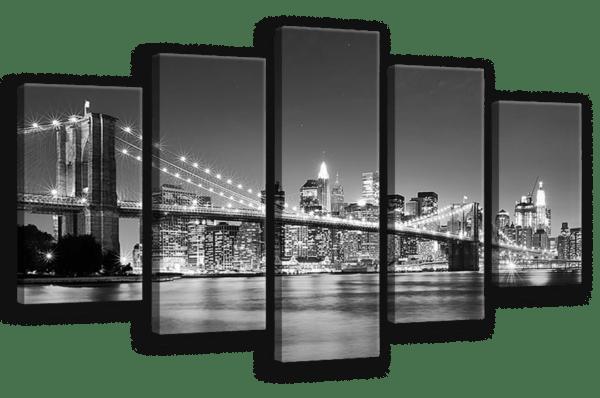 Leinwandbild Skyline – Mehrteiler Ansicht schräg