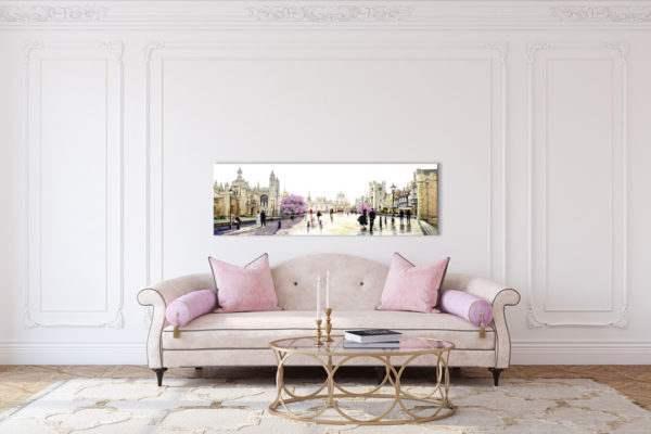 Leinwandbild Cambridge – Wasserfarben im Wohnzimmer