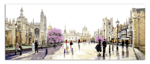 Leinwandbild Cambridge – Wasserfarben