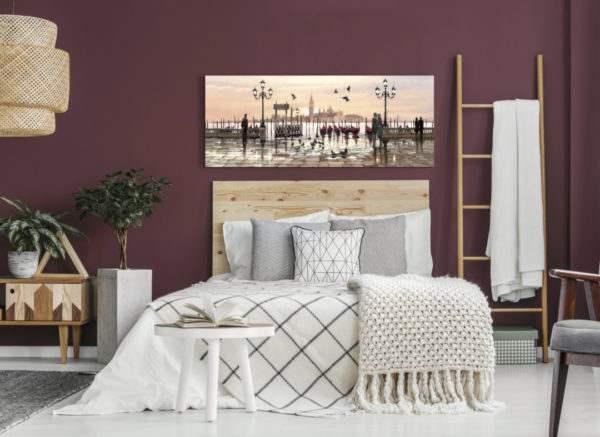 Leinwandbild Venice – Wasserfarben im Schlafzimmer