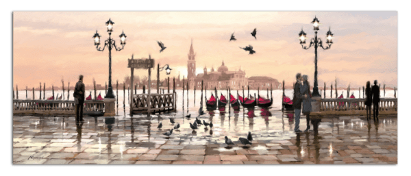Leinwandbild Venice – Wasserfarben