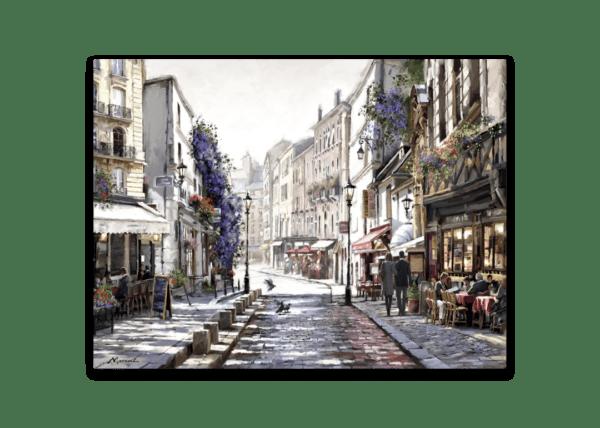 Leinwandbild Straße in Paris – Wasserfarben