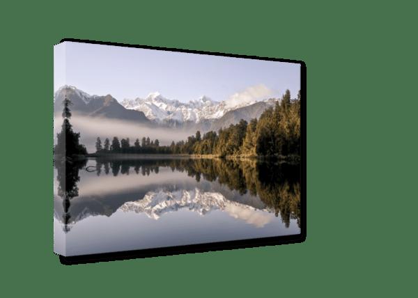Leinwandbild Neuseeland – Panorama Ansicht schräg