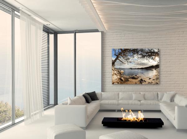 Leinwandbild Sardinien – Panorama im Wohnzimmer